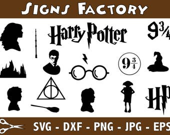 Harry Potter Svg Cut Files, Harry Potter Svg, Svg, Eps, Dxf, Png use with Cricut & Silhouette