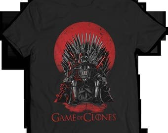 T-shirt Star Wars Game of clones