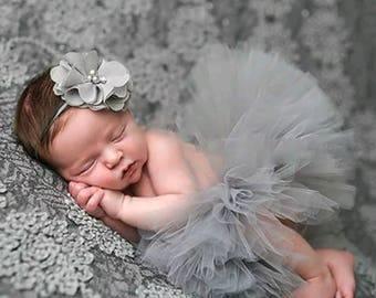 Newborn Baby Tutu & Headband Set