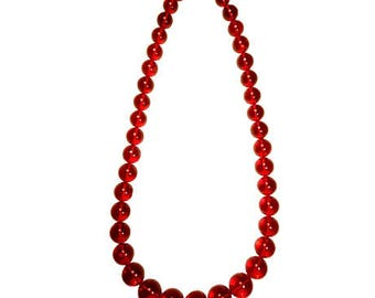 Red Dominican Amber Necklace Beads Various Sizes