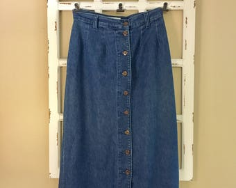 Vintage Denim high waisted skirt