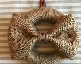 Jute Wreath with Bow (12cm)