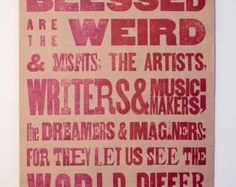 Purple Letterpress Poster