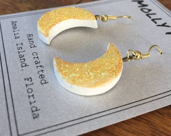 Molly Moon Gold Glitter Earrings
