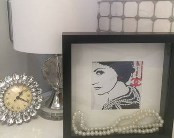 Coco Chanel inspired art