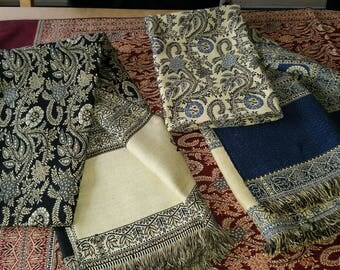 Shawl/Scarf blue-white