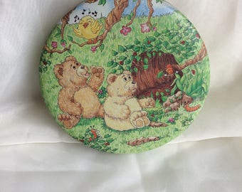 Cave Bear decorative storage tin