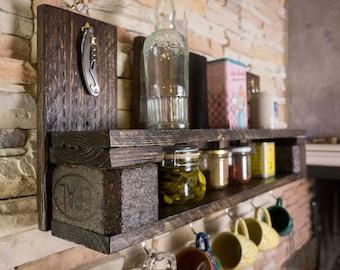 Pallet shelf-rustic style