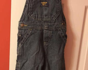80's oshkosh overall blue denim