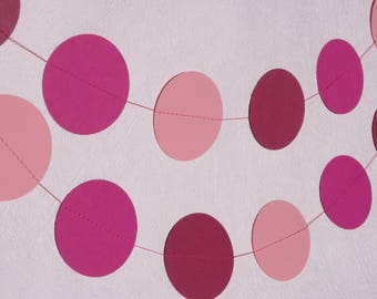 Pink Circle Garland - Pink Wedding Decor - Garden Party Decorations - Pink First Birthday