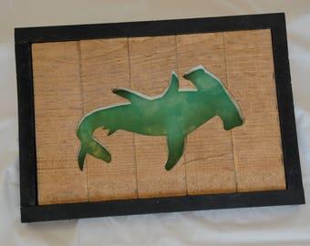 Hammerhead Shark Framed Cutout Wall Art