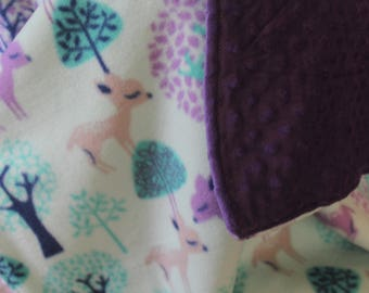 Little Fawn Baby Girl Blanket