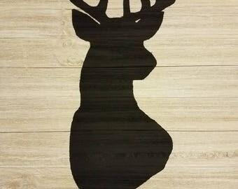 Rustic Deer Silhouette Painting