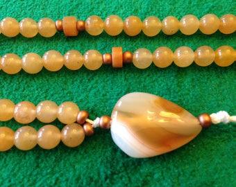 Aventurine and Carnelian Prayer Beads