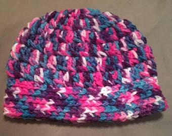 READY TO SHIP baby girl beanie pink purple