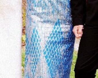 Vintage Formal Backless Floor Length Dress