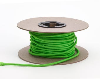 "Shock cord, .125"" Wide, 15 yds, Neon Green"