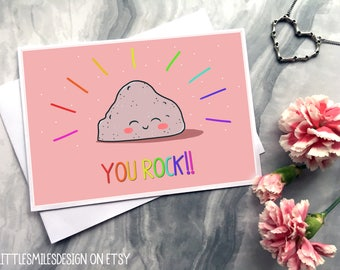 You Rock! - Personalised Greeting Card