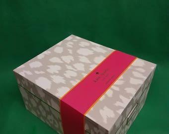 Kate Spade New York Leopard Print Nesting Boxes