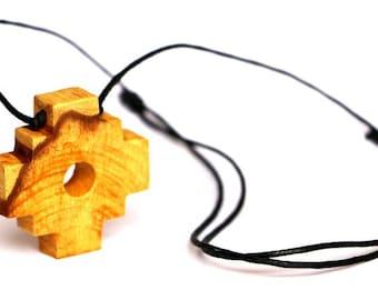 Palo santo , Holy Wood Chakana Necklace from Peru