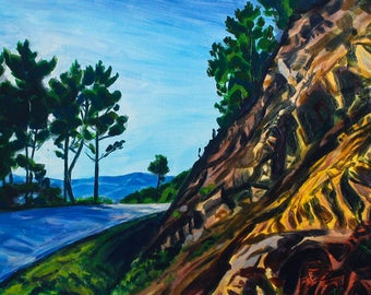 Acrylic landscape painting -