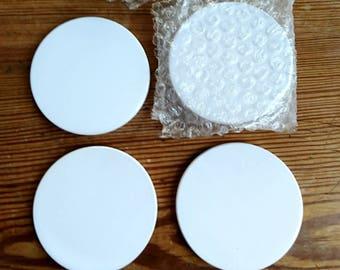 Ceramic Coasters, sublimation coasters, printable ceramic coasters, blank coasters.