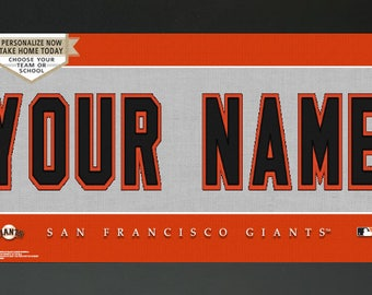 San Francisco Giants  MLB Jersey Custom Frame Sign