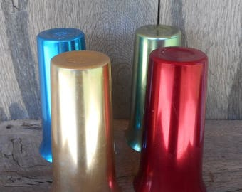 Color Craft Vintage 6  Inch High Tumblers in 4 Colors Lot of 4