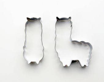 2pcs/Set Alpaca Cookie Cutters- Llama Cookie Cutter - Fondant Biscuit Mold - Pastry Baking Tool Set