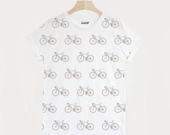 Bike All Over Print Men's Cycling T Shirt