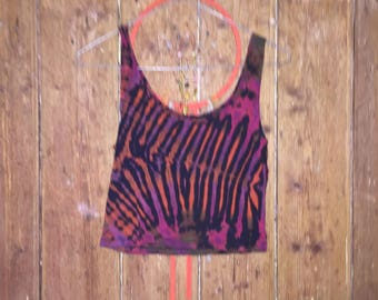 90s Tie Dye Vintage Crop Top, 60s/70s style, Festival