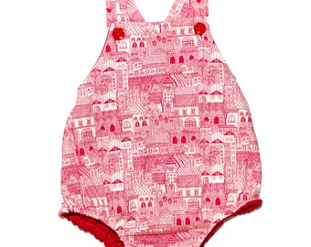 Romper - child / baby / infant / toddler Pink Houses