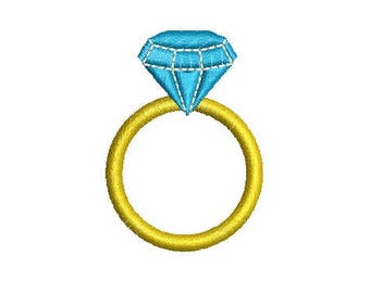 Diamond Ring Wedding Embroidery Design Embroidery Design Fill Design Machine Embroidery Instant Download Digital File EN2013_F1