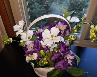 Purple floral arrangement