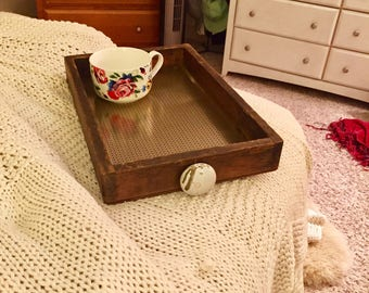 Repurposed Serving Tray. Old made new!