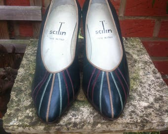 Vintage Shilin Made in Italy Green Shoes size 38 leather