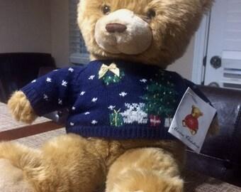 Marisa Christina Vintage 1995 Christmas Teddy Bear.   With Tags!