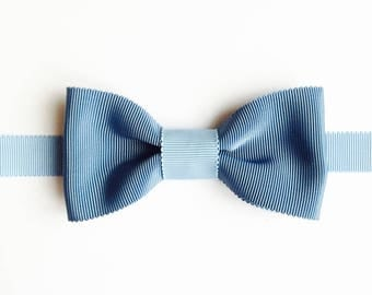 Bow tie blue & light blue - wedding bowtie - man gift - handmade-