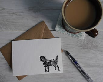 Jack Russell Terrier Greetings Card/Jack Russell/Thank You Card/Birthday Card/Dog Breeds/Blank Card/Terrier Card/Unique Dog Designs/Eddie