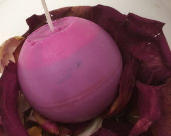 Red Red Wine Spherical Candle, vegan scented decorative candle