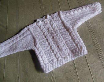 White cardigan vest