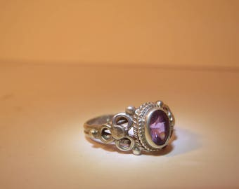 Vintage violet or blue rings