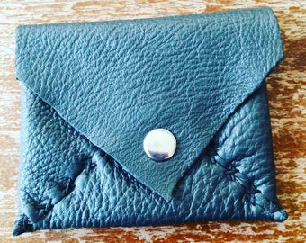 Leather pouch- card and coin purse