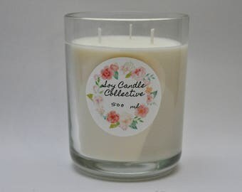 Rose Geranium - Large Soy Candle