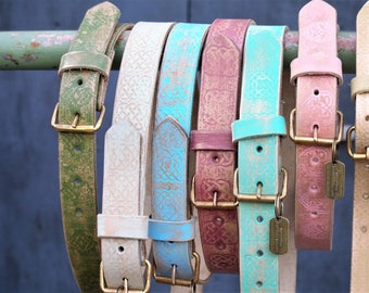 Leather belt Unique handcrafted in Holland