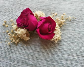 Beautiful dried rose flower corsage. Perfect for prom or a  wedding.