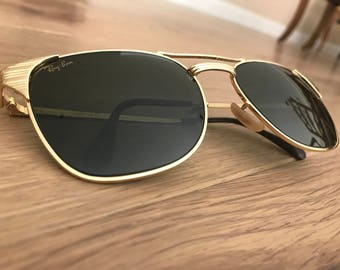 Ray Ban Gold Retro Sunglasses