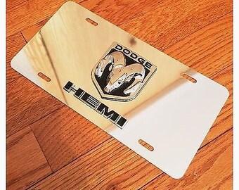 Dodge Ram Head Hemi Mopar Custom Aluminum License Plate 3D 1500 2500 3500