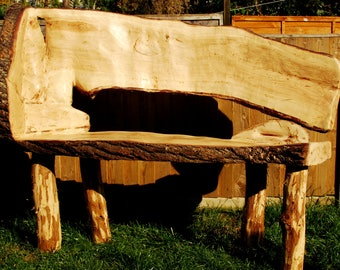 Rustic english oak bespoke bench