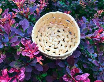 Hand woven mini bowl